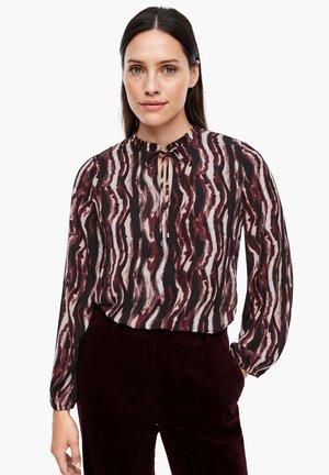 Blouse - cream batik stripes