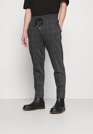 CHECK JOGGER - Pantaloni sportivi - black