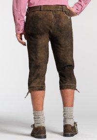 Spieth & Wensky - OTTFRIED - Leather trousers - brown - 1