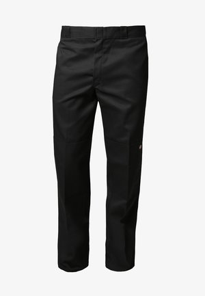 DOUBLE KNEE WORK PANT - Pantalones - black