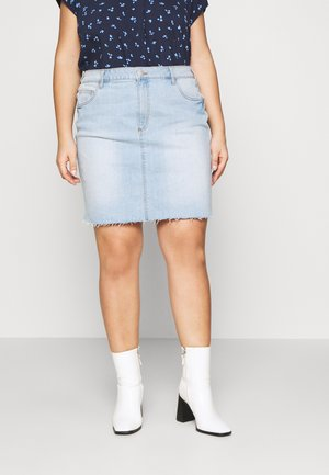 SKIRT - Denim skirt - sky blue