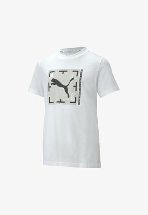 ACTIVE SPORTS GRAPHIC YOUTH TEE CHICO - Print T-shirt - puma white