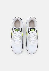 Nike Sportswear - AIR MAX 90 UNISEX - Sneakers laag - white/hot lime/black/neutral grey - 3