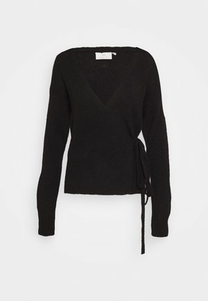 KAWENDY WRAP CARDIGAN - Cardigan - black deep