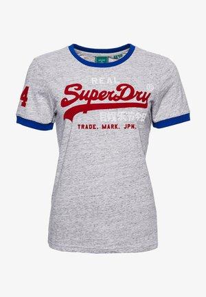 Print T-shirt - peppered grey grit