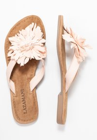 Lazamani - T-bar sandals - nude - 3