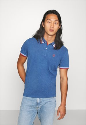 WORDING TIPPING - Poloshirts - estate blue white melange