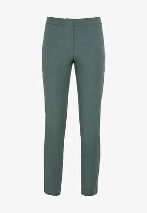 MIT SEITLICHEN SATINSTREIFEN - Pantalon classique - eukalyptus