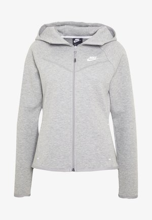 HOODIE - Zip-up hoodie - mottled grey