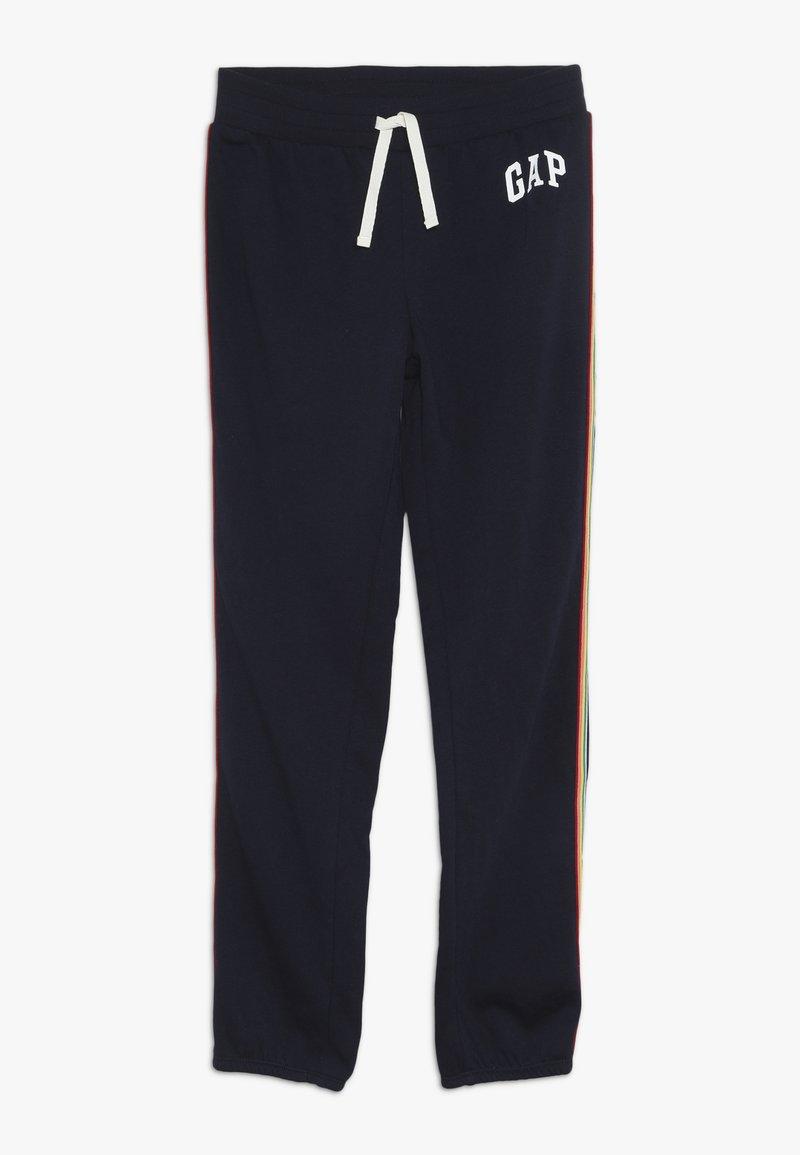 GAP - GIRL  LOGO - Tracksuit bottoms - navy uniform