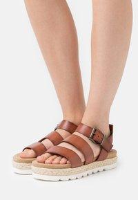 Barbour - GABBIE - Platform sandals - cognac - 0