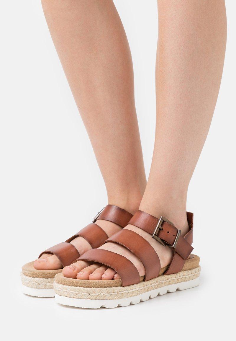 Barbour - GABBIE - Platform sandals - cognac