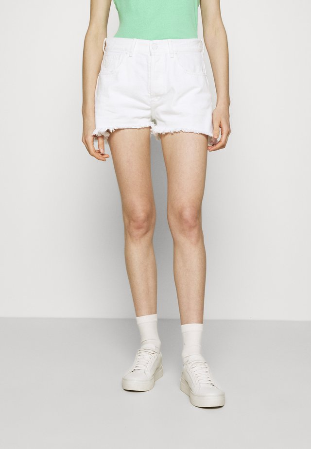 SANTA - Denim shorts - white