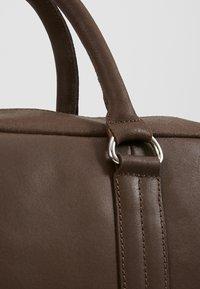 Pier One - LEATHER - Laptop bag - dark brown - 6