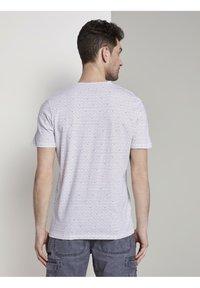 TOM TAILOR - Print T-shirt - white diamond palm tree design - 2