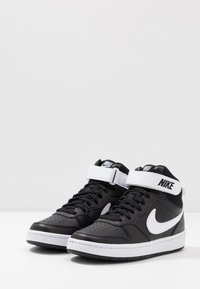 Nike Sportswear - COURT BOROUGH MID UNISEX - High-top trainers - black/white - 3