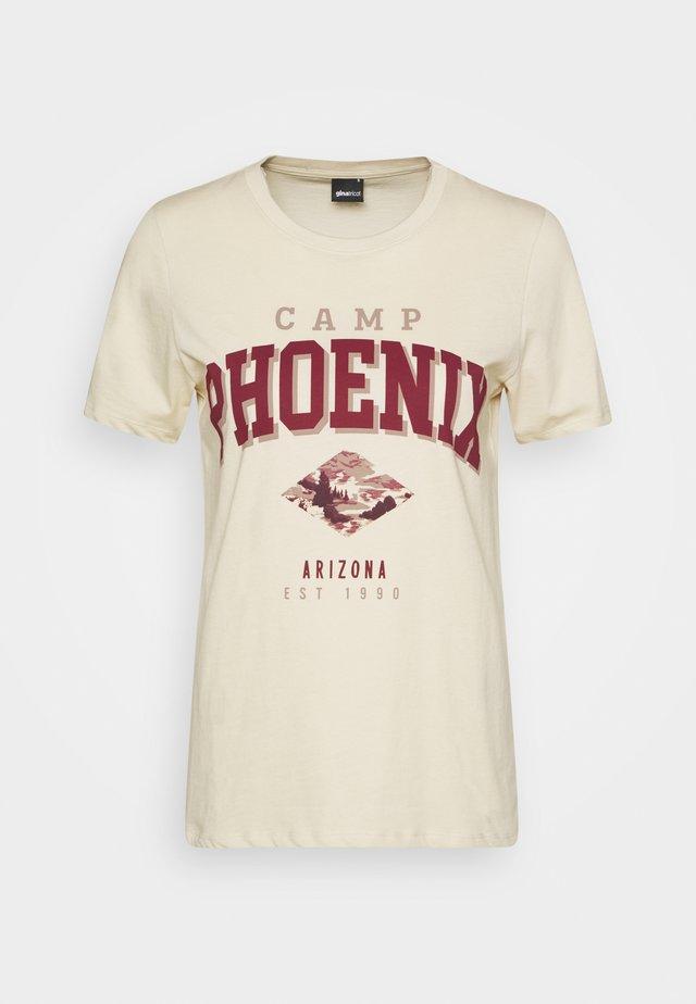 IDA TEE - T-shirt imprimé - fog/camper
