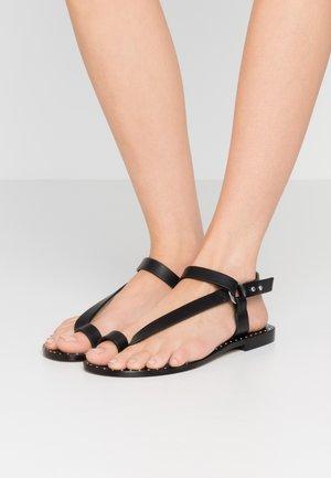 TILDANA - Sandály s odděleným palcem - black
