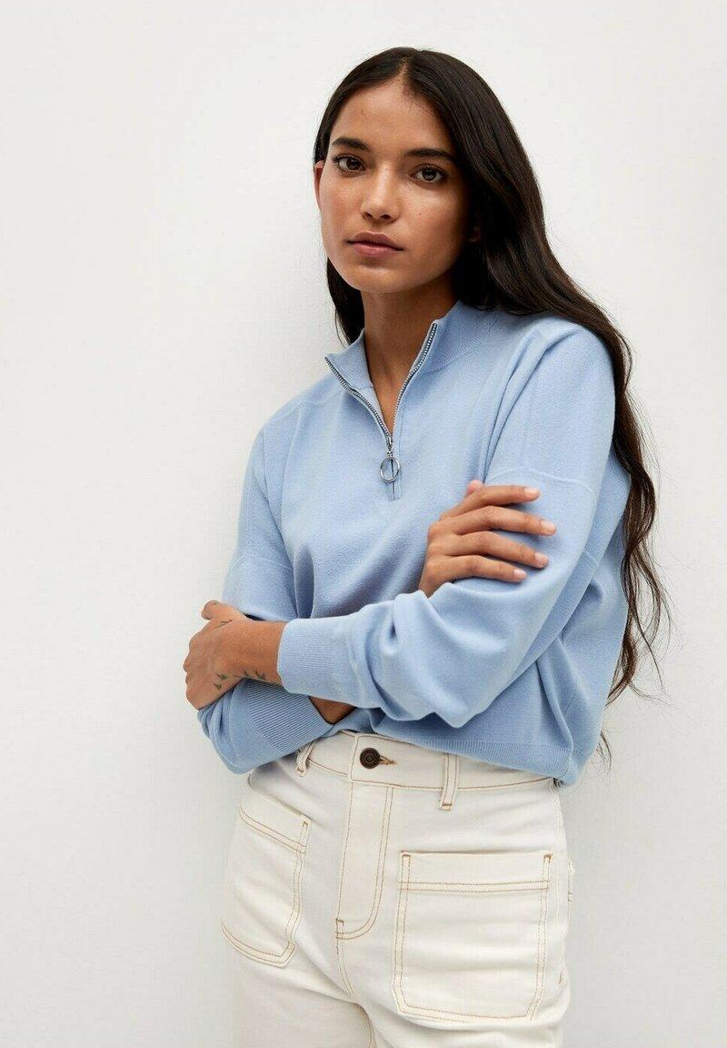 Mango - Sweatshirt - bleu porcelaine