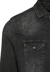 Brandit - HERREN RILEY DENIMSHIRT - Shirt - black - 4