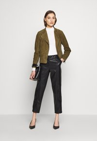 Pedro del Hierro - JACQUET - Leather jacket - green - 1