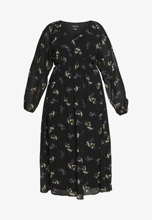 DRESS GENTLE FLORAL - Abito a camicia - black