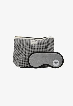 TRAVEL POUCH PREMIUM EYEMASK SET - Wash bag - black grid/grey