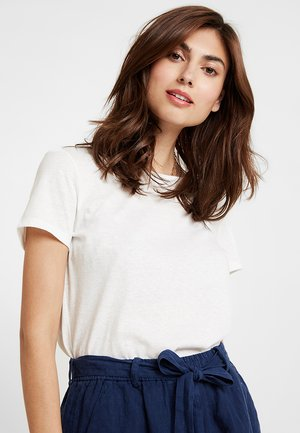 TWIST BACK TEE - Print T-shirt - off white