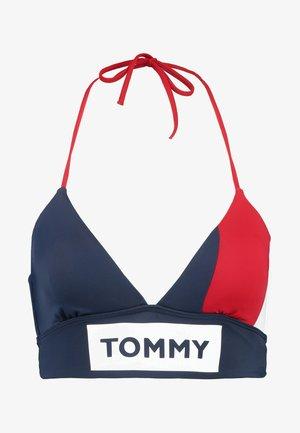 BOLD LONGLINE - Bikini top - tango red