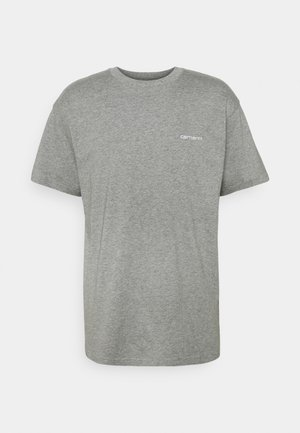 SCRIPT EMBROIDERY - T-shirt basic - grey heather/white