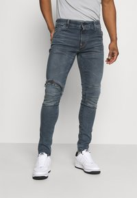 G-Star - 5620 3D ZIP KNEE SKINNY - Jeans Skinny Fit - elto novo superstretch/worn in smokey night - 0