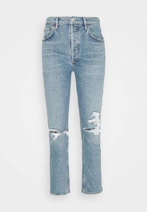 RILEY CROP - Straight leg jeans - whiplash light indigo
