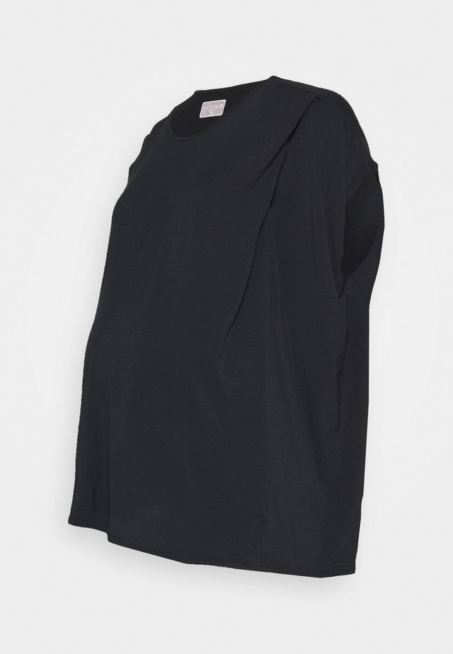 NURSING - Basic T-shirt - black