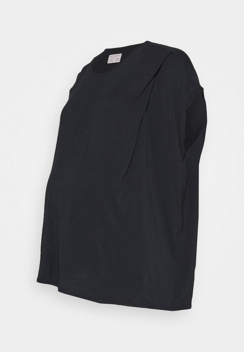 GLOWE - NURSING - Basic T-shirt - black