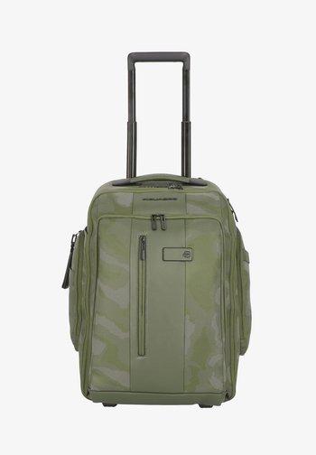 Wheeled suitcase - camouflage reflected green