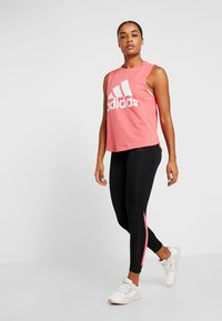 adidas Performance - OWN THE RUN - Collants - black/real pink - 1