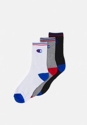 CREW SOCKS PERFORMANCE UNISEX 3 PACK - Socks - black/white/grey