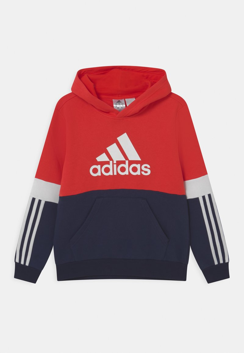 adidas Performance - COLORBLOCK ESSENTIALS - Jersey con capucha - legend ink/vivid red/white