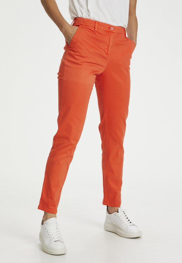 Chinos - pumpkin orange