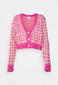 VICHEKINA CARDIGAN - Cardigan - natural melange/pink