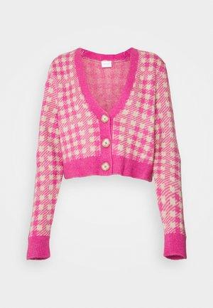 VICHEKINA CARDIGAN - Chaqueta de punto - natural melange/pink