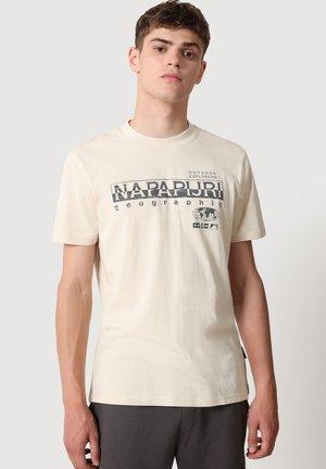 SEB - T-shirt print - whitecap gray