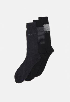 MENS ICONIC LOGOCREW SAWYER 3 PACK - Calcetines - black combo