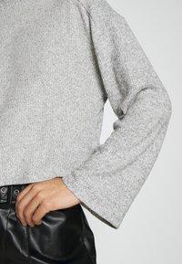 Topshop - CUT SEW FUNNEL - Top sdlouhým rukávem - grey - 5