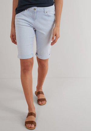 KNEE SHORTS - Shorts - mottled light blue
