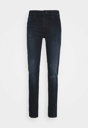 MULTIFLEX - Jeansy Slim Fit - denim blue black