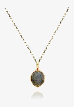 Necklace - dark grey, gold