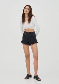 PULL&BEAR - Shorts di jeans - dark grey - 1