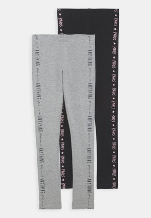 NKFVIVIAN 2 PACK - Leggings - black
