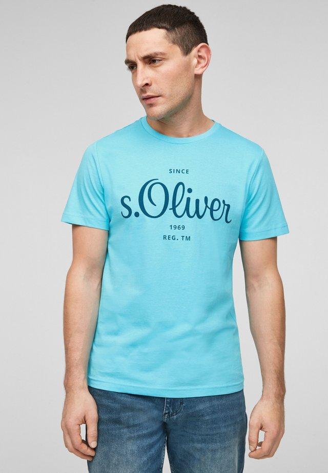MIT LABEL-PRINT - Print T-shirt - aqua
